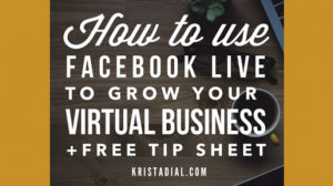 How to use Facebook Live to grow your virtual business [FREE DOWNLOAD]